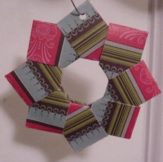Origami Folded Wreath Tutorial Jans Stamping Creations