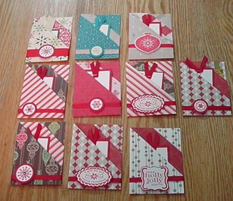 Christmas Gift Card Holder Ideas.Double Pocket Gift Card Holder Jan S Stamping Creations