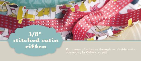 Stitched satin ribbon