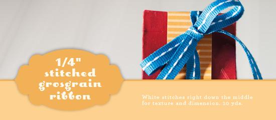 Grosgrain stitched ribbon