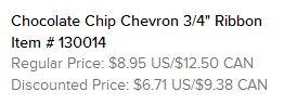 Chocolate Chip Chevron Ribbon Text