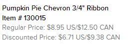 Pumpking Chevron Ribbon text