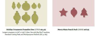 Ornament keepsakes an dpunch pack