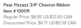 Pear Pizzaz Chevron Ribbon Text
