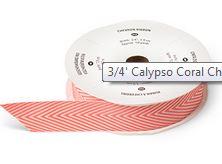 Calypso Coral Chevron Ribbon