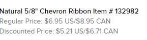 Natural chevron ribbon text