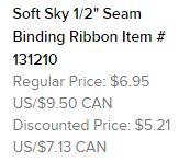 Soft sky ribbon text