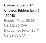 Calypso coral ribbon text