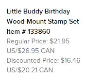 Little buddy stamp set text