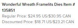 Wonderful Wreath Framelits Text
