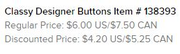 Designer Buttons Text