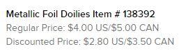 Metallic Doilies Text