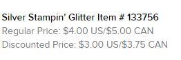 Silver Glitter Text