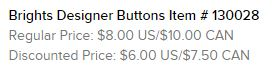 Brights Buttons Text