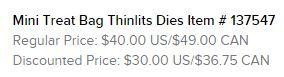Mini Treat Bag Thinlits Text