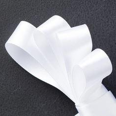 Whisper White Satin Ribbon