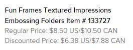 Fun Frames Embossing Folders Text