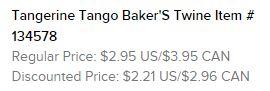 Tangerine Tango Baker's Twine Text