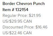 Chevron Punch Text