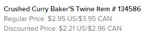Crushed Curry Baker's Twine Text