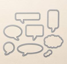 Word Bubbles Framelits