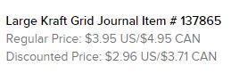 Kraft Journals text