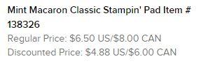 Mint Macaron Stamp Pad Text