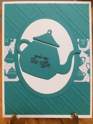 CUP /& KETTLES FRAMELITS plus HAVE A CUPPA PAPER STACK A NICE CUPPA Stampin' Up