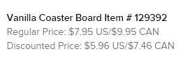 Coaster Board Text