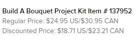 Build a Bouquet Kit Text