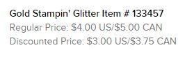 Gold Glitter Text
