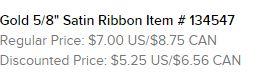Gold Ribbon Text