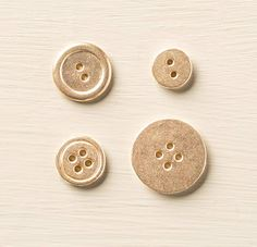Gold Metallic Buttons