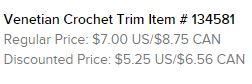 Crochet Trim Text