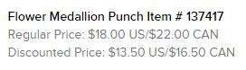 Flower Medallion Punch Text