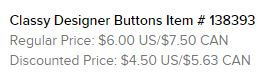 Classy Buttons Text