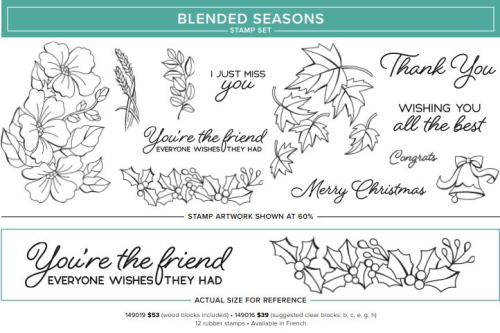 Blended Seasons Stamp Set