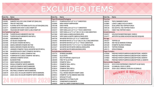 Excluded List